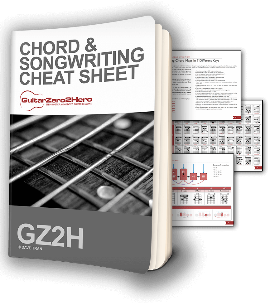 Guitar Chord & Songwriting Cheat Sheet